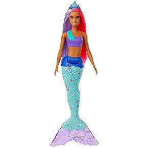 Boneca Barbie Sereia Dreamtopia Cauda Azul - Mattel GJK09