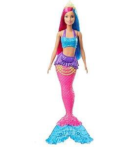 Boneca Barbie Sereia Dreamtopia Cauda Rosa - Mattel GJK07