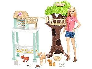 Boneca Barbie Cuidadora Dos Bichinhos - Com Acessórios Mattel
