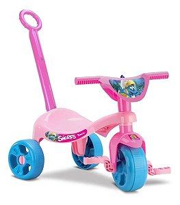Triciclo Smurfs Menina Rosa - Samba Toys