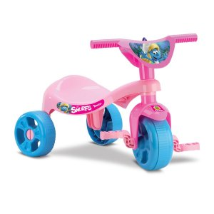 Triciclo Tchuco Smurfs - Rosa - Samba Toys