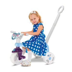 Triciclo Tchuco Princess Snow Com Haste - Samba Toys
