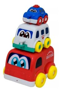 Trio Resgate Polícia Bombeiro Ambulância - BBR Toys