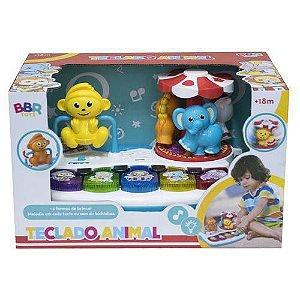 Teclado musical bichinhos - Bbr Toys
