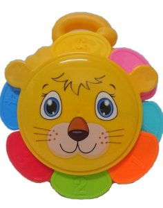 Brinquedo de Empilhar Leãozinho Peças Coloridas - Bbr Toys