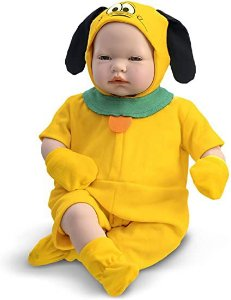 Boneco Pluto Classic  Dolls Recém Nascido - Roma