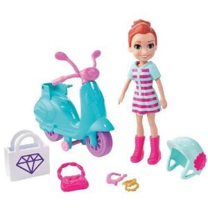 Boneca Polly Pocket Passeio De Scooter Mattel - GFP95