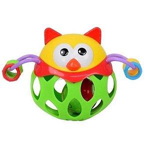 Chocalho Amiguinho Divertido Coruja - Bbr Toys