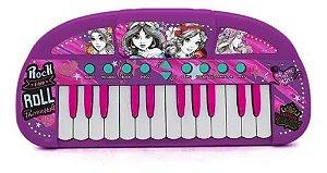 Teclado Infantil Musical Princesa Grava E reproduz Toyng