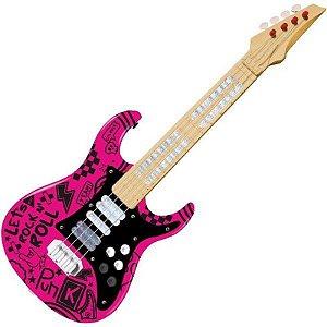Guitarra Elétrica Infantil Show Toyng - Rosa