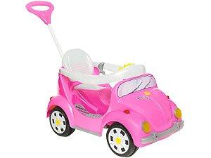 Carrinho de Passeio Infantil a Pedal 1300 Fouks Rosa - Calesita