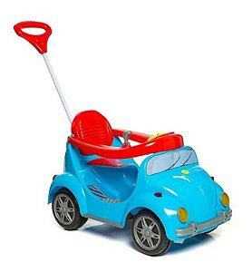 Carrinho de Passeio Infantil a Pedal 1300 Fouks - com Empurrador Azul Calesita