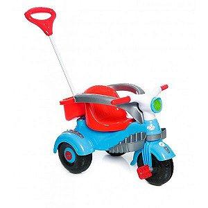 Triciclo Velocita Classic - Calesita Azul/Vermelha
