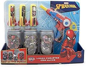 Lança Foguetes Spider-Man com Latinhas - Toyng