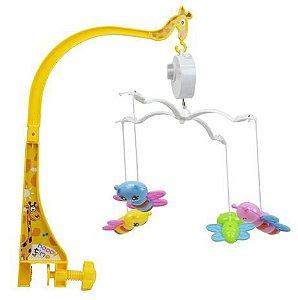 Mobile Baby Diversão Musical Com Borboletas - BBR TOYS