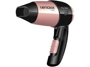 Secador de Cabelo Lenoxx My Rose Travel Rosé para Viagem Dobrável 1200W 2 Velocidades 127V