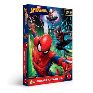 Quebra Cabeça Spider Man 100 Peças - Toyster