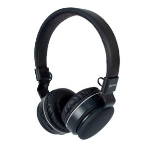 Headphone Bluetooth V5.0 Hoopson Pto/Prata