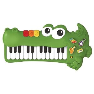 Piano Jacaré Musical para Bebê - Braskit