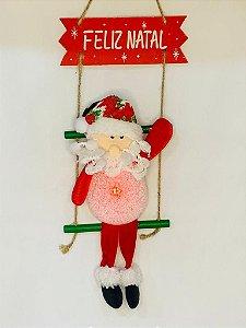 Papai Noel De Tecido Na Escada Com Led 36Cm X 19Cm - Wincy Natal