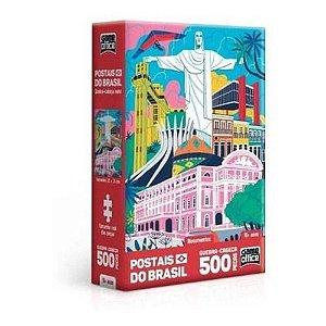 Jogo Quebra Cabeça Postais Do Brasil Monumento 500 Peças Toyster0,181