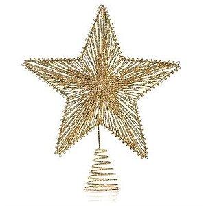 Enfeite De Arvore Estrela Dourada 20Cm - Wincy Natal