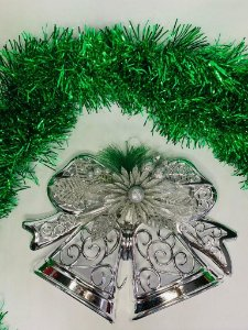 Enfeite de Natal Sino Prata 28x23 - Wincy Natal
