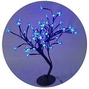 Árvore Flor De Cerejeira Azul 60 Leds Wincy