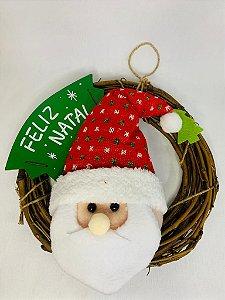 Guirlanda Com Papai Noel Tecidp 25CM Fartex Wincy Natal