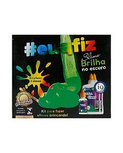 Kit Brinquedo 2 Slimes Brilha no Escuro #euqfiz i9 Brinquedos