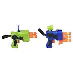 Lançador de Dardos Soft Gun Duplo 2 Lançadores - BBR TOYS