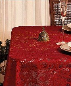 Toalha de Mesa Renda Retangular Natal 1,55 x 2,20 - Lepper