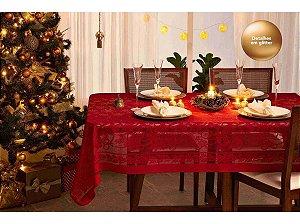 Toalha De Mesa Rendada Natal 10 Lugares 1,55 X 3,00m - Lepper
