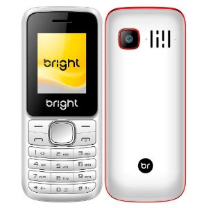 Celular Barra Dual Chip Câmera MP3 e Bluetooth Branco e Vermelho -  Bright