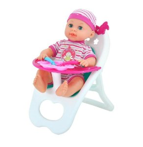 Boneca Bebê Tutu - Chora, Ri E Fala - Dm Toys