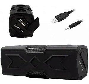 Caixa De Som Bluetooth Hoopson 10w Bateria Potente Powerbank