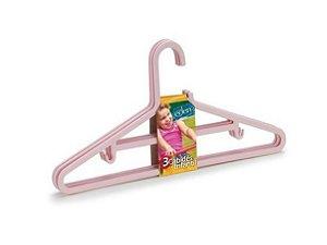 Conjunto Com 3 Cabides Infantis Rosa - Arthi
