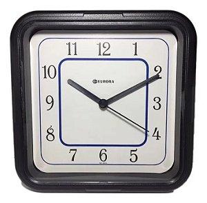 Relógio de parede quadrado Euro