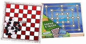 Combo Jogos Damas E Trilha - Xalingo
