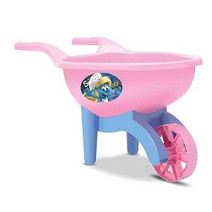 Carriola Infantil Carrinho De Mão Os Smurfs Rosa - Samba Toys