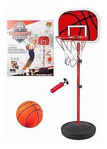 Basquete Radical Cesta Com Pedestal Ajustável + Bola + Bomba - Dm Toys