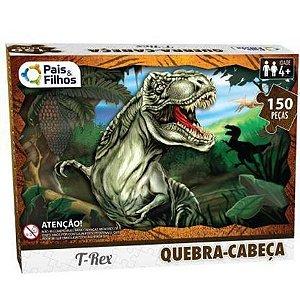 Quebra Cabeça Dinossauro t-rex 150 peças - Pais E Filhos