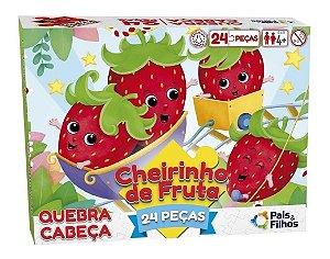 Quebra-cabeça Cheirinho De Fruta 24 peças Morango