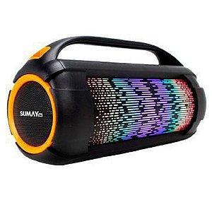 Caixa de Som Sumay Firebox 60W Bluetooth Fm Led SM-CSP1305