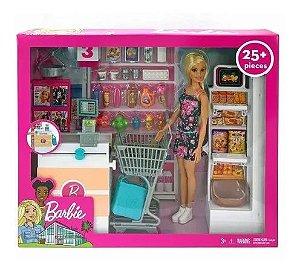 Boneca Barbie com Playset - Supermercado de Luxo - Mattel