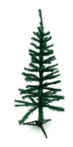Arvore De Natal Pinheiro Simples Verde 90 Cm 70 Galhos Wincy