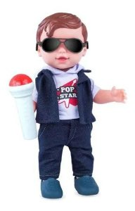 Boneco Babys Collection Pop Star Menino - Super Toys