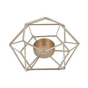 Castiçal para Velas Geométrica Minimalista Dourado - Amigold