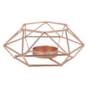 Castiçal para Velas Geométrica Minimalista Rose - Amigold