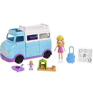 Boneca Polly Pocket Glamorosa Van de Campismo - Mattel